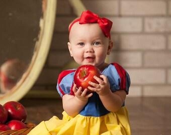Snow White dress peasant dress princess inspired 6mos- 3t Custom