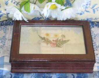 Jewelry Box, Ring Box, Dried Flowers Jewelry Box  Pretty, Storage, Organization, Dresser Decor,  :)