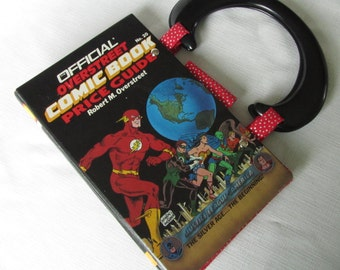 Justice League Altered Book Purse Vintage Overstreet Comic Book Price Guide