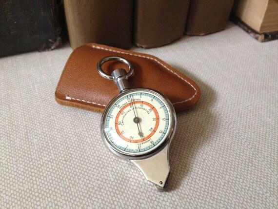 vtg germany      magnetic compass  u0026 map measurer      leather case