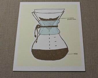 A Chemex Companion Letterpress print