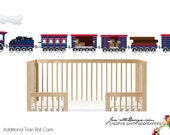 Small Train Rail Carts Fabric Wall Decal