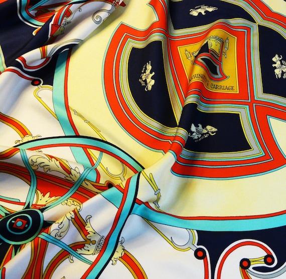 sale authentic vintage hermes silk scarf by carredeparis