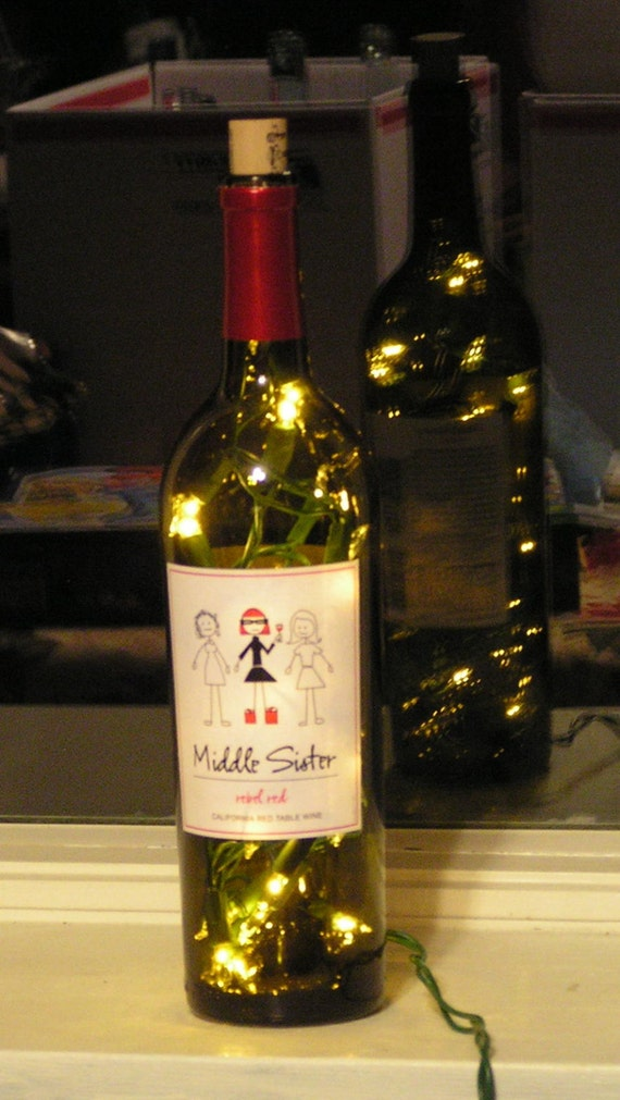 how to make wine bottle with lights inside