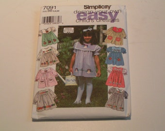 Simplicity Pattern 7091 design your own easy Shirley Botsford Child Dress