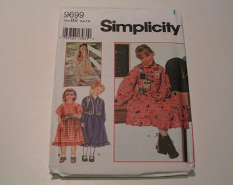 Simplicity Pattern 9699 Child Dress and Vest