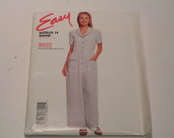 McCalls stitch n save Pattern 8602 Miss Jumpsuit