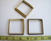 Steampunk Supplies No. CPB10 Lot of 3 Vintage Clock parts, Bezels for Steampunk creations, Altered Art, Assemblage