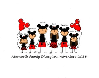 Custom Disney Vacation Printed T-shirt Custom / Personalized **all sizes** 100% Custom design for families and groups