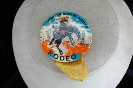 Vintage Madison Square Garden Rodeo Pin By Kittycatshop On Etsy