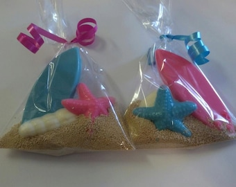 Chocolate Surfboard Party Favor Bags  10 pieces