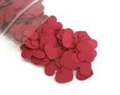 Dark Red / Burgundy Heart Confetti: about 200 Mini Hearts