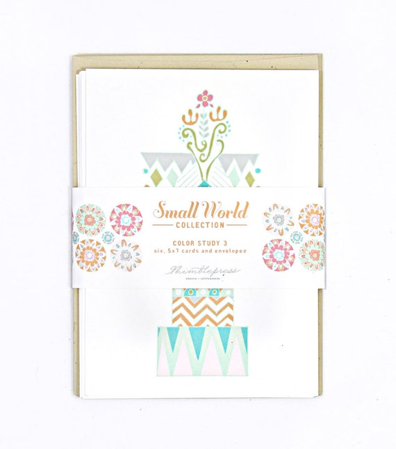 It's A Small World Color Study III Greeting Cards