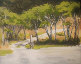 Road to the Cabin - Original Plein air painting