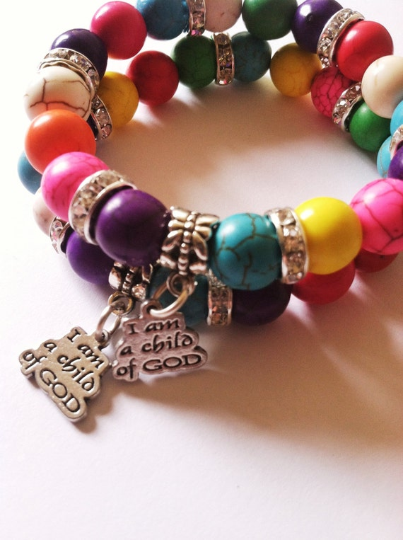 children 39 s bracelet christian jewelry rainbow bracelet