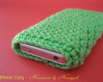 iPhone 5 sleeve jacket cover - handmade crochet - Spring Green