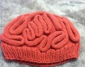 Knit Brain Hat / Thinking Cap