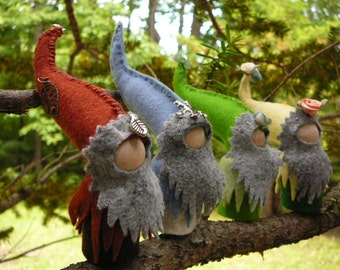 Gnomes for Four Seasons, Waldorf Inspired, Peg Doll Gnome, Made to Order