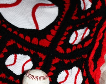Grand Slam Baseball Afghan Crochet Pattern