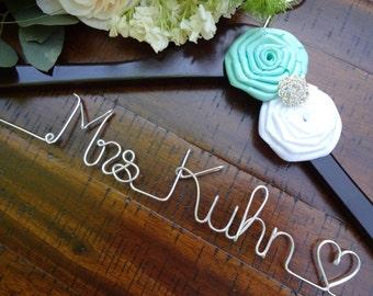 Bride Hanger, Bridal Hanger, Wedding Dress Hanger, Shower Gift, Personalized Hanger, Bridesmaid Hangers, Custom Wedding Hanger, Bridesmaid