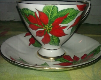 Vintage Taylor & Kent Bone China Footed Cup and  Saucer