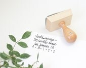 "Custom Address Stamp - 2 1/4"" hand calligraphy return address rubber stamp - personalized - papersushi"
