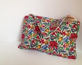 Envelope clutch  bag with vintage Liberty print handmade