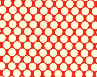 Fat Quarter cut of Amy Butler Lotus Full Moon Cherry Dot AB13