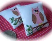 Dollhouse Miniature Pillow - Owl