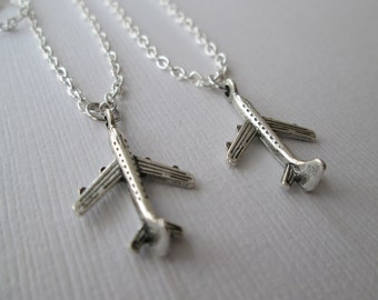 2 Airplane, Best Friends Necklaces