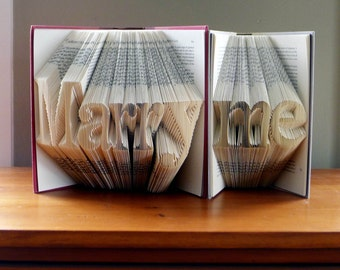 Marriage Proposal - Will You Marry Me - Engagement - Folded Book Art - Anniversary Gift - Custom Phrase - Unique Proposal Ideas