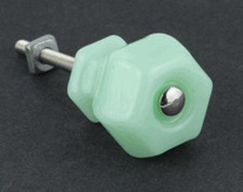 Jadeite Milk Glass Knobs 1-1/4 inch