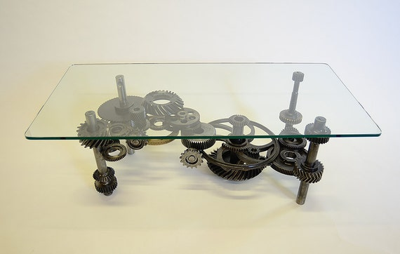 Items Similar To Coffee Table Industrial Gears Steampunk