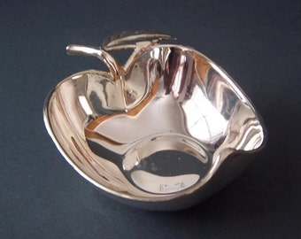 Silver Plated Apple Bowl