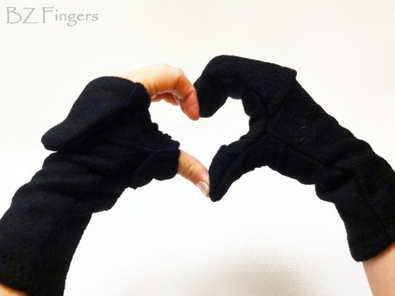 Glittens Convertible Mittens Fingerless Gloves Unisex One Color