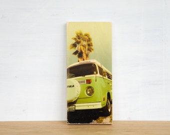VW Van Photo Transfer Mini - 'Westfalia' by Patrick Lajoie Fine Art Photography, vintage green van