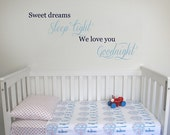 Sweet Dreams Wall Decal | 100 x 50cm / 39 x 20 inches