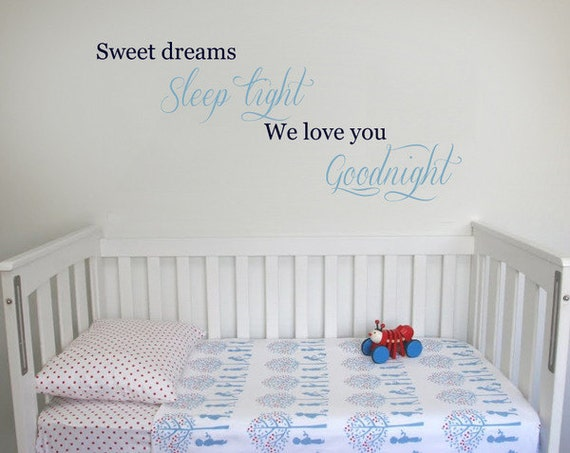 Lovely Sweet Dreams Wall Decal 100 X 50cm / 39 X 20 Inches