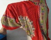 Harem Yoga Pant Tribal Print Pants Ethnic Boho Alibaba Baggy Festival yoga Harem Pant Trouser Jumpsuit  FlowerPrint