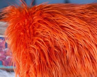 Mongolian Faux Fur Rusty Orange - Photography Prop - Newborn/baby Photography Prop - Longer length - Ready to ship