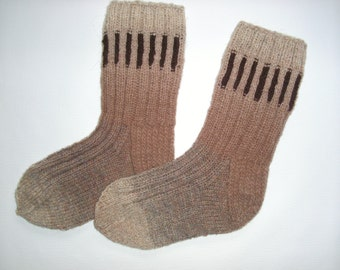 SALE! Hand Knitted Wool Socks - Colorful Wool Socks for Men -Mens Socks -Size Medium US 9,5-10,EU43
