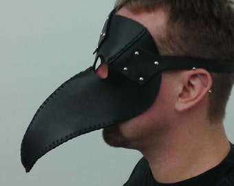 Leather Plague Doctor's Mask- Handmade to order