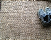"Hand woven ""up-cycled"" Sisal door mat made of Recycled Hay Bale Twine.  26"" x 34"""