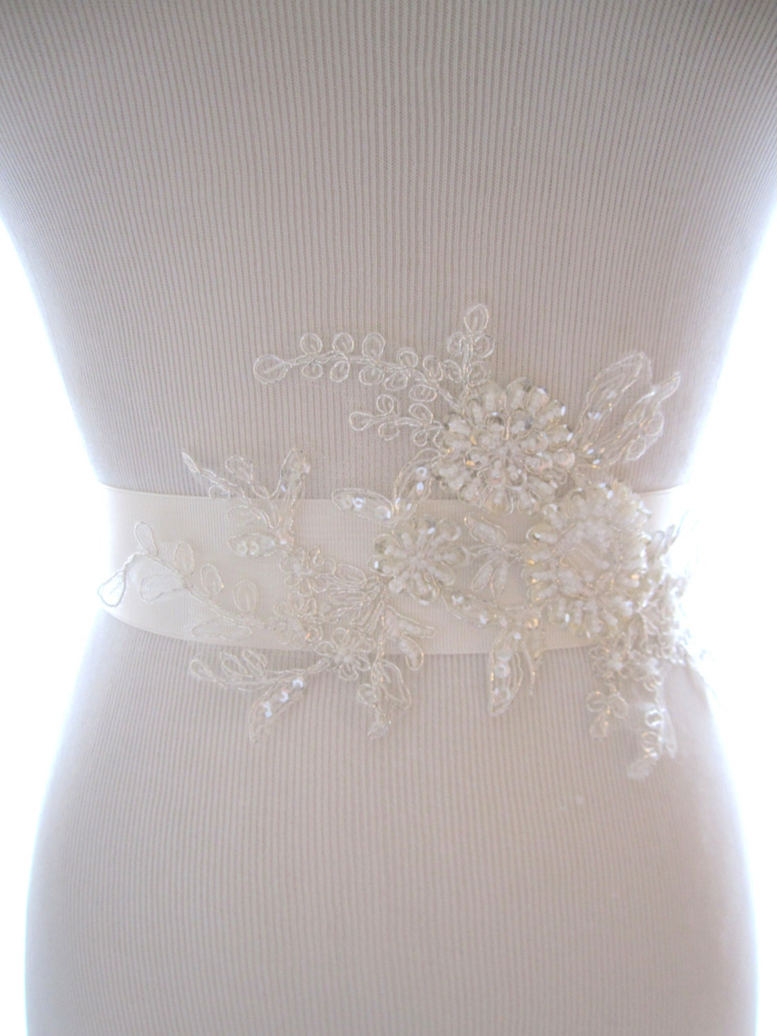 lovely beaded lace bridal sash wedding belt wedding sash