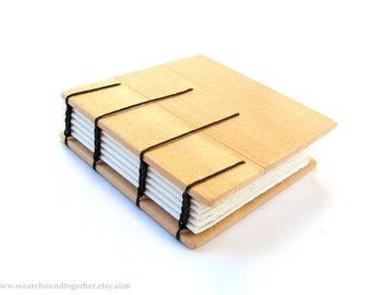 Reclaimed Wood Blank Coptic Stitch Journal
