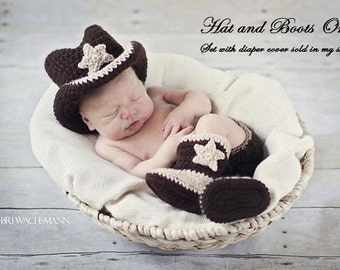 Lil' Cowboy Hat and Boot Set Only- Made to Order- Any Size