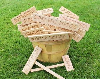 Master Gardener Dream Set, 21 PLAIN Garden signs, Mix and Match Signs, Gardener Gift