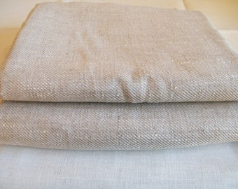 2 Hand/ Face towels natural linen / pure flax - Rustic style bathroom linens