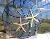 Stained Glass Nautical Window Tropical Sea Starfish Suncatcher Nuggets Panel Tiffany Style