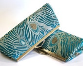 Bridesmaid Gift, EllenVintage Peacock Teal Clutch with Silk lining (choose your color) , Wedding clutch, Bridesmaid clutch, Evening bag